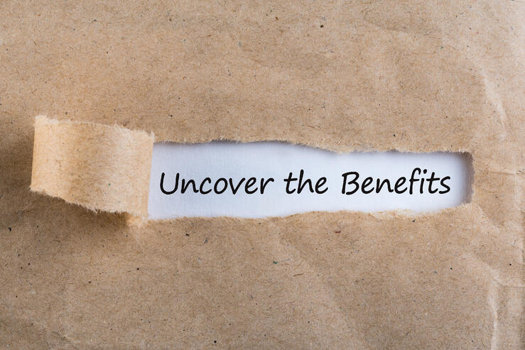 uncover the benefits stock photo